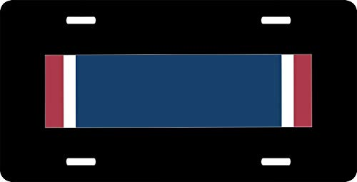 US Army Distinguished Service Cross Ribbon Aluminum Metal License Plate Frame Cover for US Vehicles, Novelty Auto Car Tag Vanity Gift 12 x 6 Inch