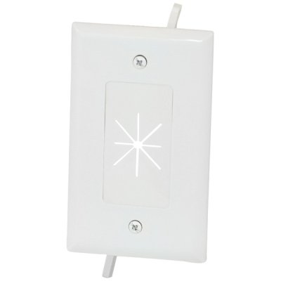 Datacomm Electronics 45-0014-Wh Cbl Plate W Flex 1Gng Wht