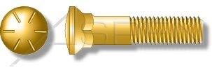 Yellow Zinc 3 Head Plow Bolts Grade 8 Steel 3//4-10 X 2-3//4 50 pcs Dome Head