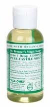 Dr Bronner 18-in-1 Hemp Almond Pure-Castile Soap 59ml by Dr. Bronner