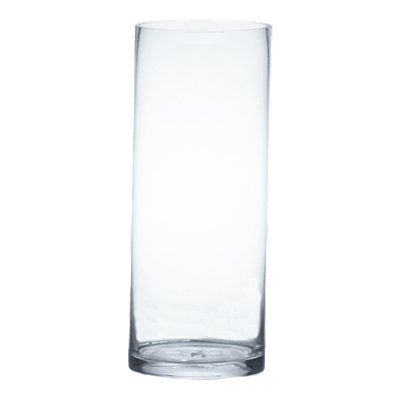 CYS GCY142/22 Straight Down Glass Cylinder Vase, Clear, 22