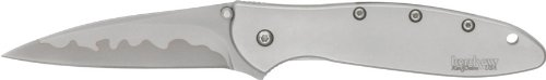 Kershaw Leek Knife with Sandvik 1660CB Stainless-Steel/CPM-D2 Composite two-tone Stainless-Steel Blade, Outdoor Stuffs