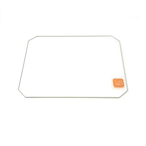 130mm x 160mm Borosilicate Glass Plate Bed Flat Polished Edge w/ Corners Cut for 3D - Big Glasses W