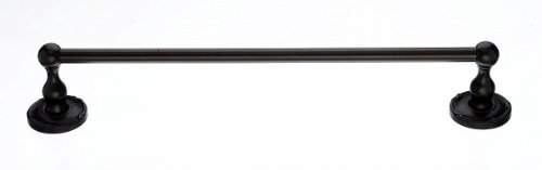 - Top Knobs ED8ORBE Bath Edwardian Collection 24 Inch Single Towel Bar with Ribbon Backplate, Oil Rubbed Bronze Finish