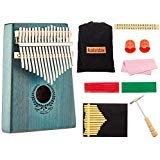 FOONEE Kalimba 17 Key Thumb Piano, Finger Piano/Mbira 17 Tone Musical Toys with Tune-Hammer and Study Instruction & Simple Sheet Music Suitable for Kids Adult Beginners, Professionals