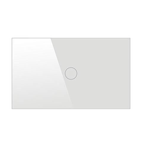 WHITE   2Gang 120 Type Single Control Touch Switch LED Light Smart Touch Screen Wall Switch 1 Way 1 2 3 Gang Crystal Glass Panel US Plug  (color  White, Number of Gangs  2Gang)