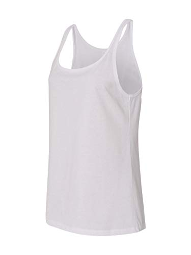 Bella 6488 Ladies Relaxed Jersey Tank - White, Large -
