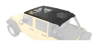 Bestop 52581-11 Header-style Safari Bikini Mesh Top for 07-09 Wrangler JK Unlimited