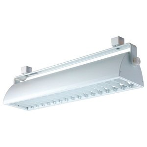 Jesco Lighting HCF255WW Contempo Series Compact Fluorescent Track Head for H 3-Wire Single Circuit Track System with White Fixture and White Louver