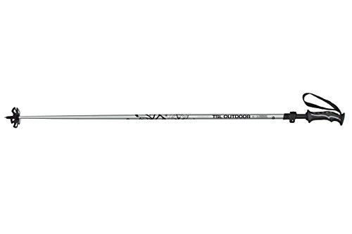 TSL Snowshoes Semnoz 2 Part Snowshoe Poles, Silver & Black, 41 To 51'' by TSL Snowshoes