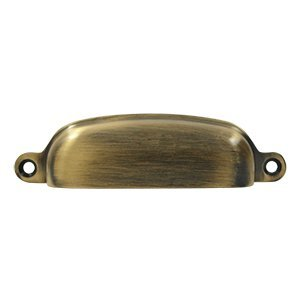 Deltana SHP29U5 Solid Brass 4-Inch Exposed Shell Pull