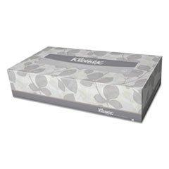** KLEENEX White Facial Tissue, 2-Ply, 125/Box, 12/Carton (12 White Tissue)