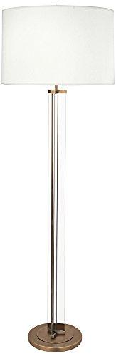 Robert Abbey Fineas Aged Brass Floor Lamp w/Off-White Shade (Brass Robert Lamp Floor)