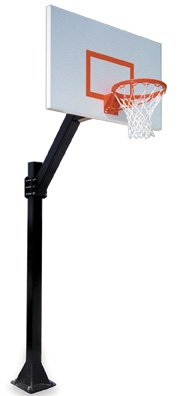 First Team Legend Jr. Extreme-BP Steel In Ground Fixed Height Basketball System44; Royal Blue by First Team