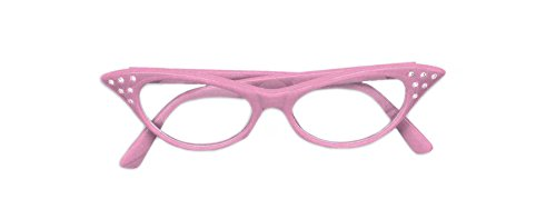 Forum Novelties Women's 50's Rhinestone Glasses-Pink, One Size for $<!--$4.00-->