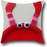 Goling BBay Art Sea Lobster Retro Throw Pillow Cover Throw Pillow Case Cover 18*18