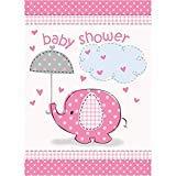 Pink Elephant Baby Shower Invitations ()