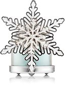 Glittering Silver Snowflake Shield Mini Candle Holder  (Candle Not Included)