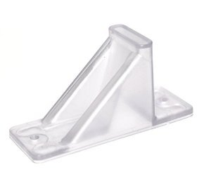 Plastic Roof Ice Guard Mini Snow Guard (25 Pack)Prevent Sliding Snow Ice Buildup-Acrylic by JSP Manufacturing
