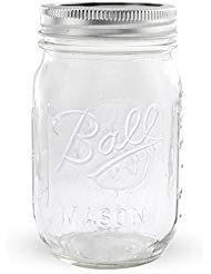 Ball Regular Mouth Pint 16-oz Mason Jars with Lid and Band ()