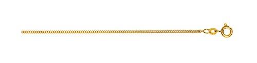 Chaîne gourmette 45cm Or avec anneau ressort, 1150.1-45