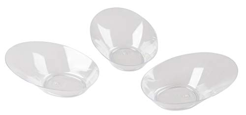 Mini Dessert Bowls - 100-Pack Clear Plastic 2-Ounce Appetizer, Salad, Fruits, Nuts Bowl, Disposable or Reusable Tasting Sampling Party Supplies, Catering, Buffet, Food Display, 3.7 x 1.1 x 2.7 Inches