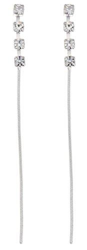 Boucles d'Oreilles Pendantes Femme - E-10323 - Argent Sterling 1.2 Gr - Cristal