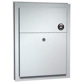 ASI Partition Mounted Dual Access Napkin Disposal - 0472(472)