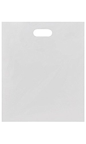 Large Low Density White Merchandise Bags - Case of 500 by STORE001
