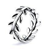 Twenty Plus Simple Sterling Silver Laurel Wreath Finger Ring Gifts For Women & Girls by Twenty Plus (Image #2)