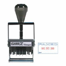 Xstamper Heavy-Duty Self-Inking FAXED Date Stamp, Red/Blue (XST40310)