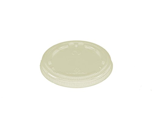 World-Centric-100-Compostable-Corn-PLA-Lid-Flat-No-Hole-Fits-4-9-Ounce-Clear-Cups-Case-of-1000