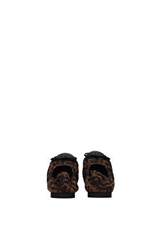 marrón Marrón Fendi para Marrón mujer Bailarinas marrón f4x7qSw