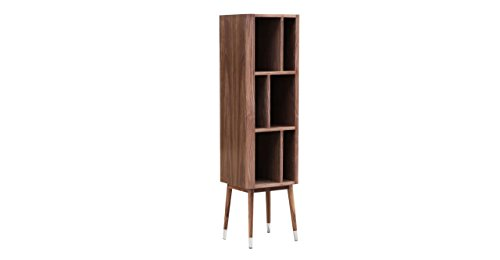 Kardiel Elroy Vertical Cabinet with Mid-Century Modern Bookc