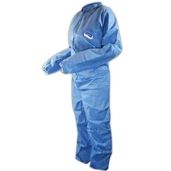 KCC58504 - Kleenguard A20 Coveralls, Microforce Barrier Sms Fabric, Denim, Lg