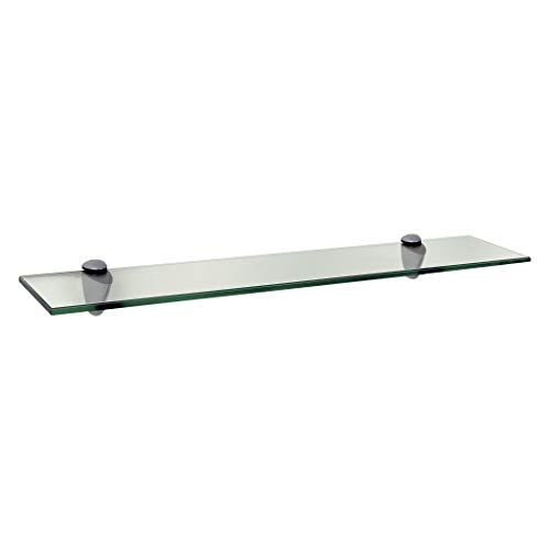 LTL Home Products 18 x 4-inch Clear Glass Legacy Shelf 24 x 4 ()