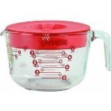 Pyrex Measuring Cup With Lid Glass Red