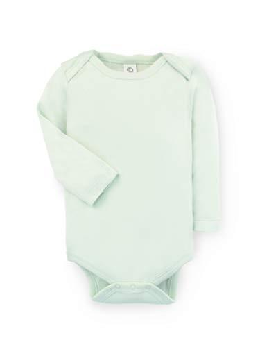 (Colored Organics Unisex Baby Organic Cotton Bodysuit - Long Sleeve Infant Onesie - Caribbean - 12-18M)