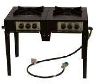 product image for Lazyman 120,000 BTUs 3 Ring Dual Burner Utility Stove - Natural Gas