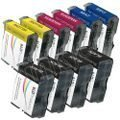Compatible LC51 Bulk Set of 10 Ink Cartridges: 4 Black & 2 each of Yellow / Cyan / ()