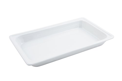 Bon Chef 12017 Ceramic Rectangle Food Pan, 20-7/8 inch Length x 12-5/8 inch Width