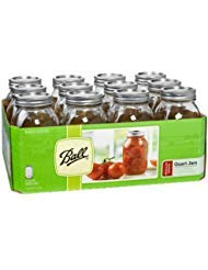 Ball Regular Mouth Quart 12 Pieces Jars (32oz) Made in USA, Clear ()