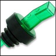 WIDGETCO Green Plastic Pour Spouts w/ Bug Screen & Grip Collar by WIDGETCO