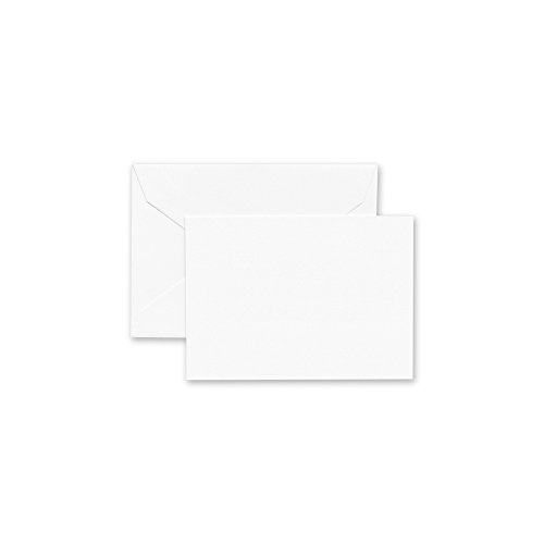 Crane & Co. Pearl White Enclosure Card and Envelope (CC0402) by Crane & Co.