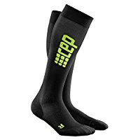 CEP Women's Progressive+ Ultralight Run Socks with Compression, Light, Breathable Fit for Cross-training, Running, Sports, Recovery, and Athletics, Black/Green, 3