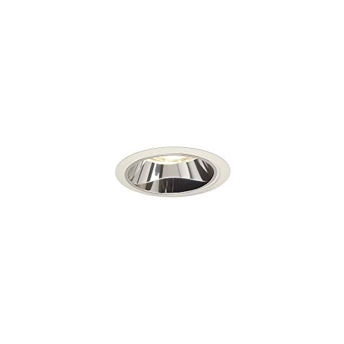 Juno Lighting 27C-WH 6-Inch Tapered Downlight Cone, White Trim with Clear Alzak