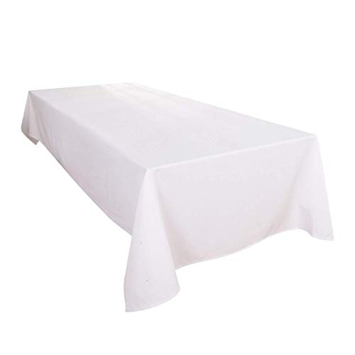 Urban Bed ! HOT Deals ! 600 Thread Count 100% Cotton (60 x 36) Rectangle Table Top Cloth Solid White - for Wedding/Banquet / Restaurant ()
