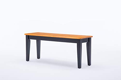 (Boraam 36536 Shaker Bench, Black/Oak)