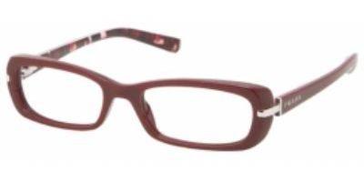 PRADA EYEGLASSES VPR 13N BURGUNDY ZXK-101 VPR13N (Eyeglasses Burgundy Frame)