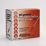 Dynarex 1201 Povidone Iodine Swabsticks 1s (10 boxes of 50)